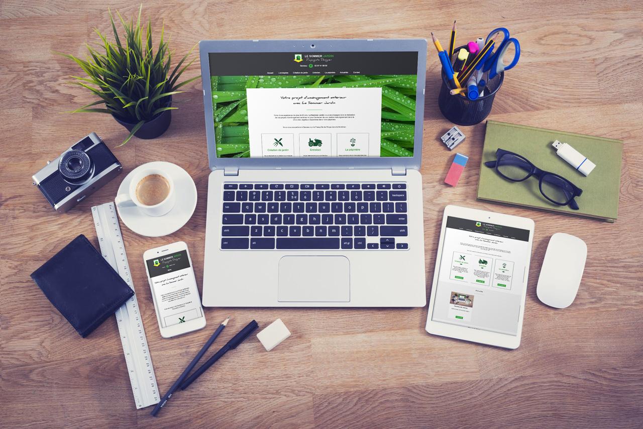 Nouveau site internet Le Sommer Jardin